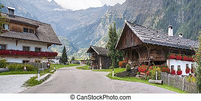 alpes, vila, em, itália