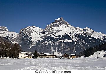 alpes, vista montaña