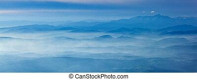 alpes, vue aérienne