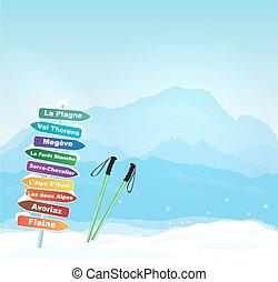 alpes, wintersports, francés