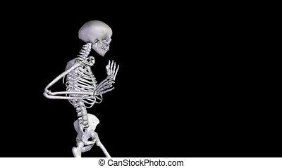 alph, dancing-zoom, squelette, disco, dehors