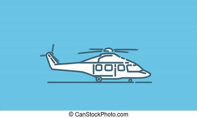 alpha, airbus, h175, icône, ligne, canal