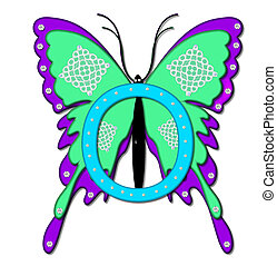 Alpha Bling Butterfly O