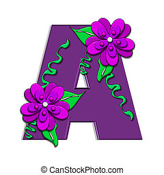 "Alpha Clinging Vines A - A, in the alphabet set ""Clinging..."