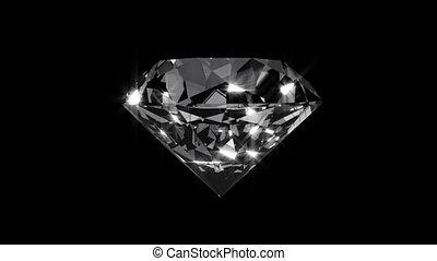alpha, diamant, animation, canal