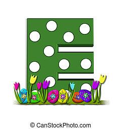 "Alpha Eggs in Hiding E - E, in the alphabet set ""Eggs in..."
