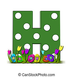 "Alpha Eggs in Hiding H - H, in the alphabet set ""Eggs in..."