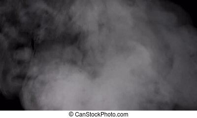 alpha, fumée, transparent, channel., ou, fond, vapeur