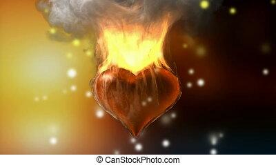 alpha, heart., brûlé, emmêlé