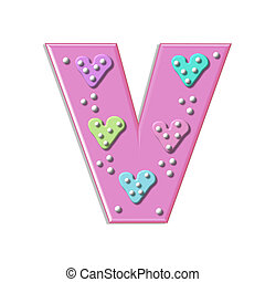Alpha Hearts and Dots V