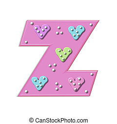 Alpha Hearts and Dots Z