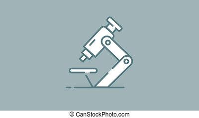 alpha, icône, ligne, canal, microscope
