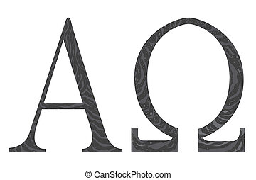 The Alpha - Omega symbols from the Christian religion.