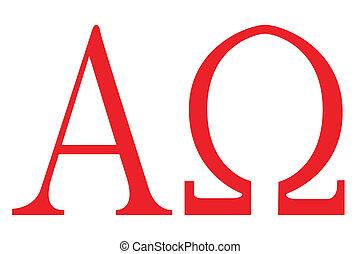 The Alpha - Omega symbols.