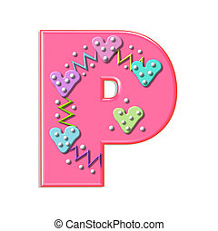 """Alpha Squiggles P - P, in the alphabet set """"Squiggles"""", is..."""