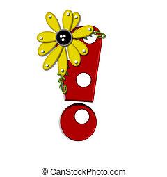 Alpha Sunflower Vine Exclamation