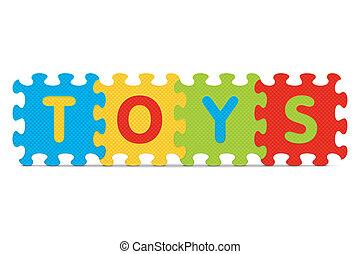 alphabet, écrit, puzzle, jouets