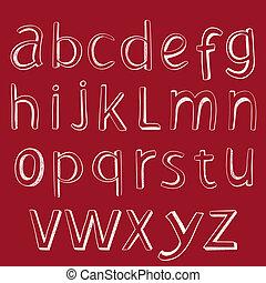 alphabet., ベクトル, デザイン, handmaid