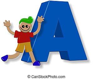Alphabet A Boy