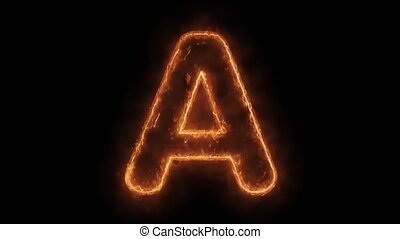 Alphabet A Word Hot Animated Burning Realistic Fire Flame ...