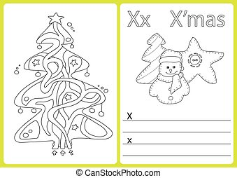 Alphabet A-Z - puzzle Worksheet, Exercises for kids - Coloring book