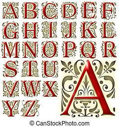 alphabet, abc, conception, lettrage