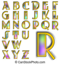 alphabet, abc, conception, lettrage