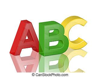 alphabet abc - Colorful transparent alphabet abc with...
