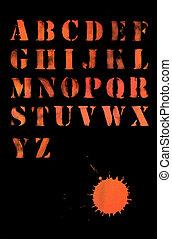 Alphabet - abc letters - creative ancient calligraphy