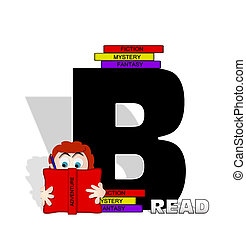Alphabet Absorbed in Reading B