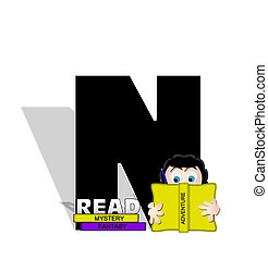 Alphabet Absorbed in Reading N - The letter N, in the ...
