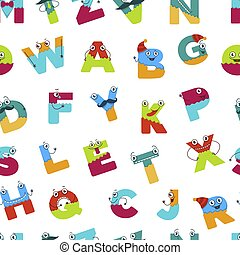 Alphabet alphabetic signs for children to learn vector