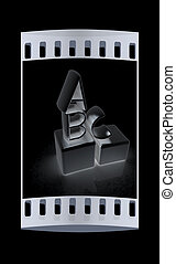 Alphabet and blocks. The film strip