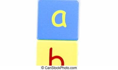 alphabet, animation, lettres