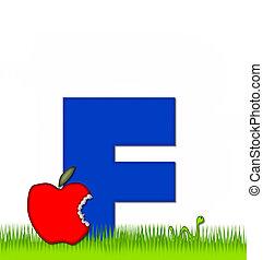 Alphabet Apple a Day Eaten Away FF