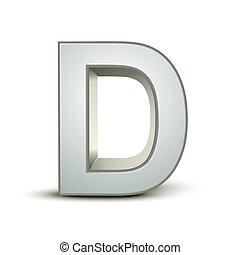 alphabet, argent, d
