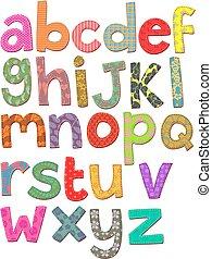 alphabet, art, agrafe