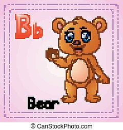 alphabet:, b, dieren, beer