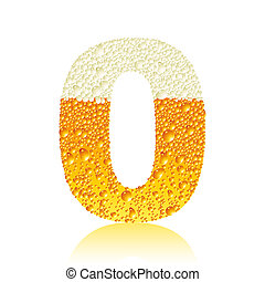 alphabet beer 0, this illustration may be useful as designer work