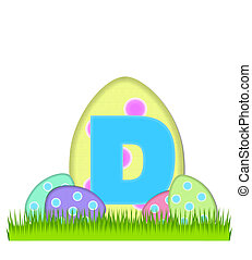 Alphabet Big Egg Hunt D - The letter D, in the alphabet set...