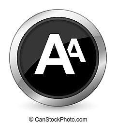 alphabet black icon