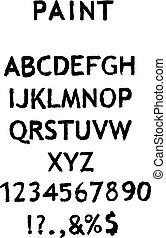 alphabet, blanc, vecteur, nombres, fond