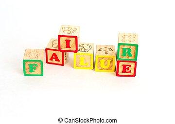 Alphabet Block Failure