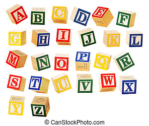 Alphabet Block Letters - Separated alphabet blocks of all ...