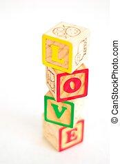 Alphabet Block LOVE