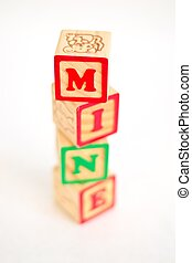 "Alphabet Block ""MINE"""