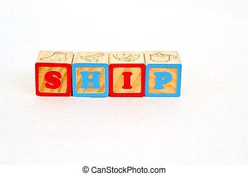 Alphabet Block SHIP