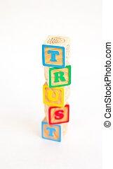 Alphabet Block TRUST