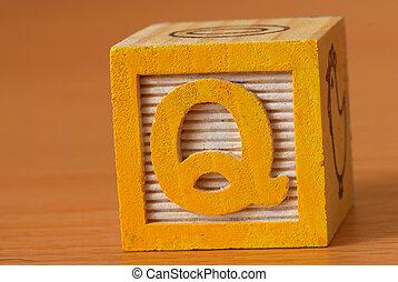 Alphabet block