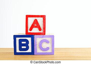 Alphabet block with ABC